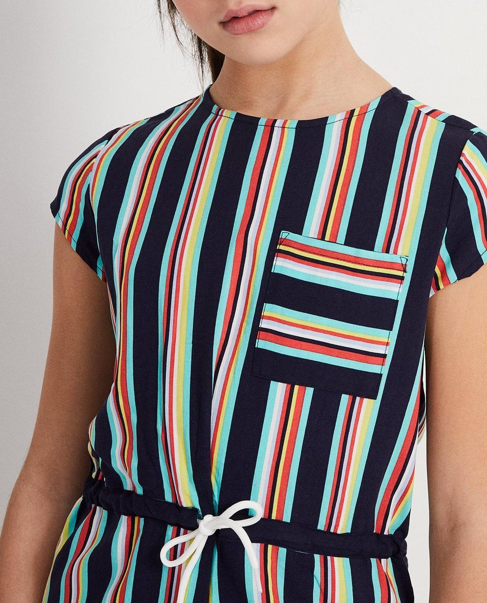 Kleider - AO1 - Kleid aus Viskose mit Streifen
